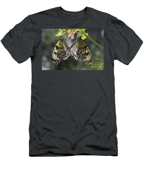 Men's T-Shirt (Slim Fit) featuring the photograph Butterfly Duo by Eunice Gibb