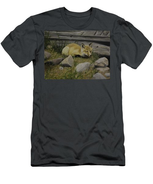 Men's T-Shirt (Athletic Fit) featuring the painting By The Den by Tammy Taylor