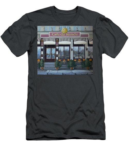 Cafe Du Monde-horizontal Men's T-Shirt (Athletic Fit)