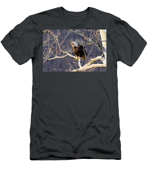 Men's T-Shirt (Slim Fit) featuring the photograph Calling For His Mate by Randall Branham