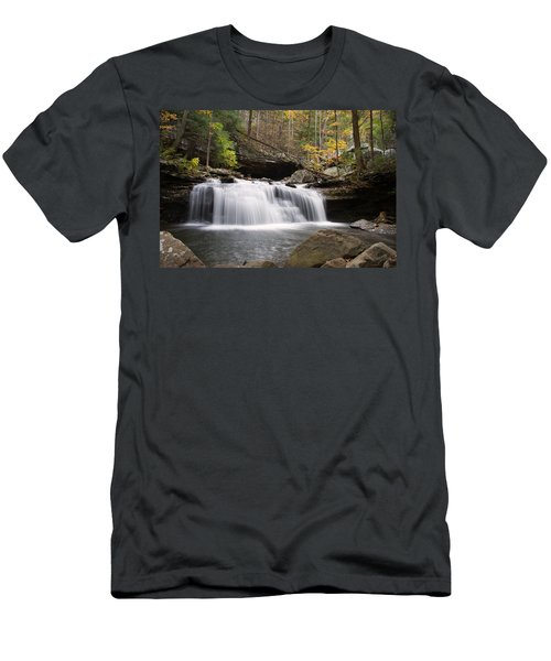 Canyon Waterfall Men's T-Shirt (Athletic Fit)