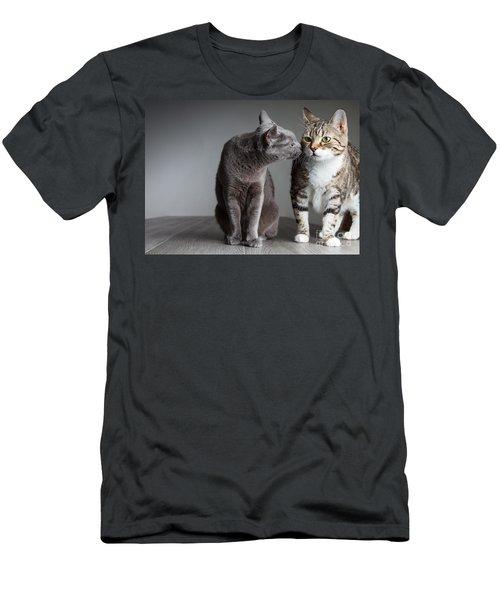 Cat Kiss Men's T-Shirt (Athletic Fit)