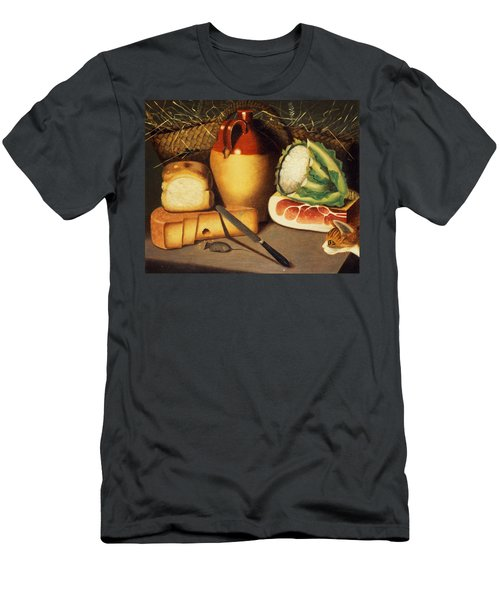 Cat Mouse Bacon And Cheese Men's T-Shirt (Athletic Fit)