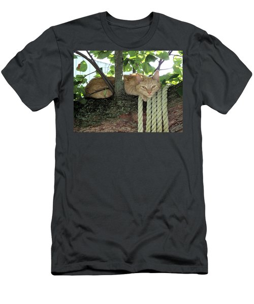 Men's T-Shirt (Slim Fit) featuring the photograph Catnap Time by Thomas Woolworth