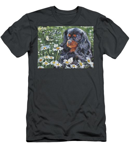 Cavalier King Charles In The Wildflowers Men's T-Shirt (Athletic Fit)