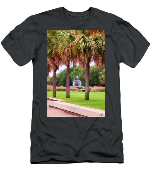 Charleston Pineapple Fountain Men's T-Shirt (Athletic Fit)