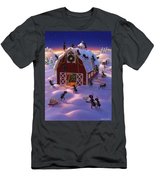 Christmas Decorator Ants Men's T-Shirt (Athletic Fit)