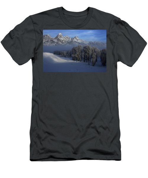 Christmas Morning Grand Teton National Park Men's T-Shirt (Athletic Fit)