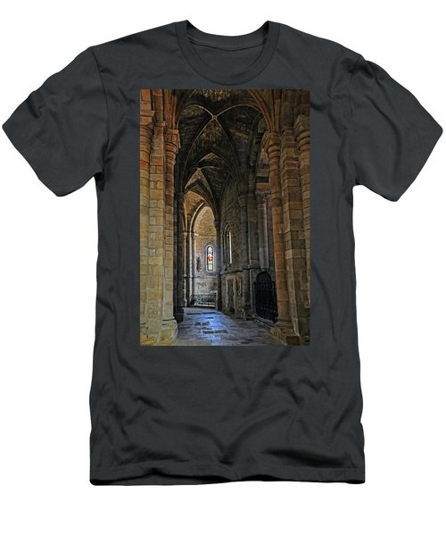Men's T-Shirt (Slim Fit) featuring the photograph Church Passageway Provence France by Dave Mills
