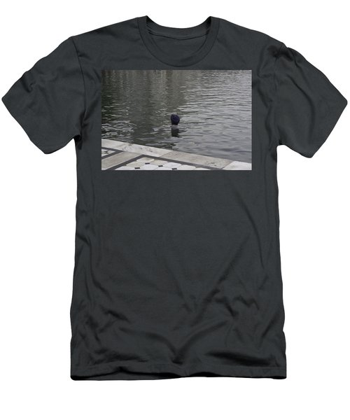Cleaning The Sarovar In The Golden Temple Men's T-Shirt (Slim Fit) by Ashish Agarwal