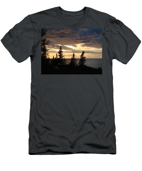 Men's T-Shirt (Slim Fit) featuring the photograph Clearing Sky by Bonfire Photography