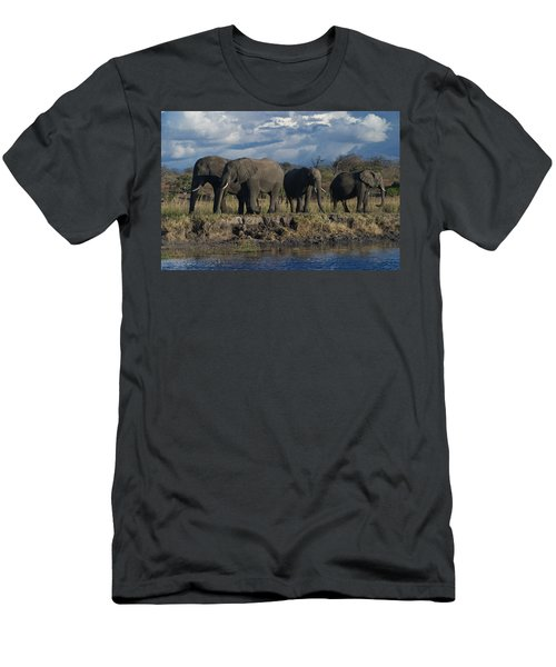 Clouds And Elephants Men's T-Shirt (Athletic Fit)