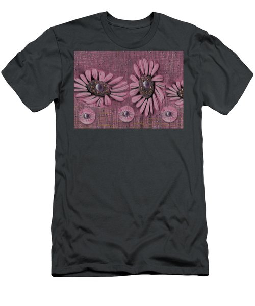Collage Flowers In Pink Men's T-Shirt (Athletic Fit)