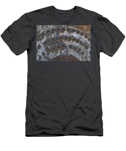Men's T-Shirt (Slim Fit) featuring the photograph Color Of Steel 7a by Fran Riley
