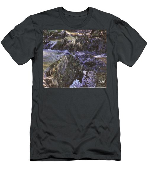 Colors In The Stream Men's T-Shirt (Athletic Fit)
