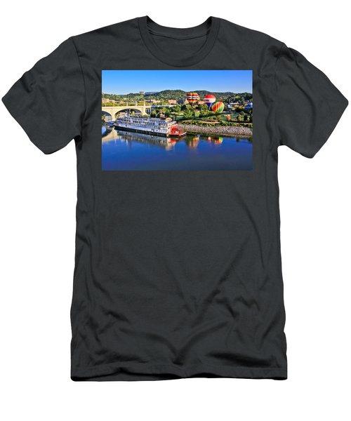 Coolidge Park During River Rocks Men's T-Shirt (Athletic Fit)