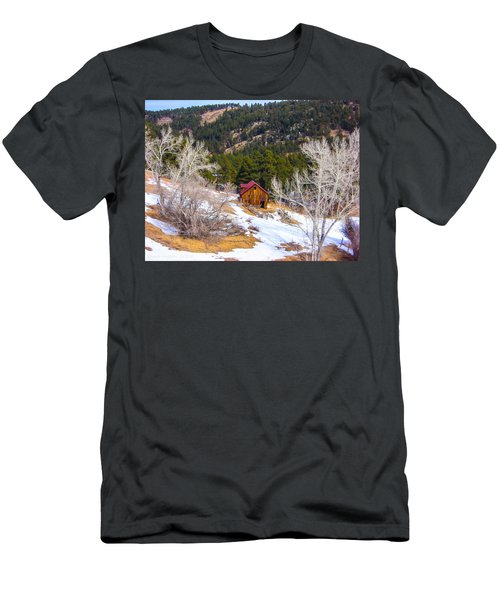 Men's T-Shirt (Slim Fit) featuring the photograph Country Barn by Shannon Harrington