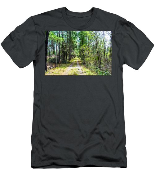 Men's T-Shirt (Slim Fit) featuring the photograph Country Path by Shannon Harrington
