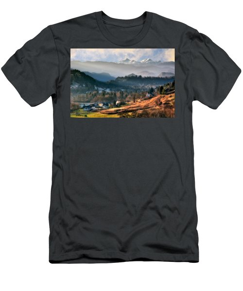 Countryside. Slovenia Men's T-Shirt (Athletic Fit)