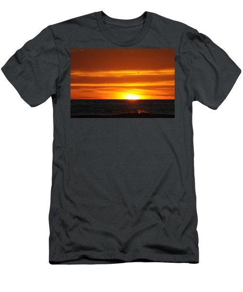 Crimson Sunset Men's T-Shirt (Athletic Fit)