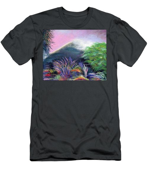 Men's T-Shirt (Slim Fit) featuring the painting Croagh Patrick by Alys Caviness-Gober