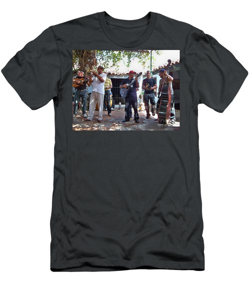 Men's T-Shirt (Slim Fit) featuring the photograph Cuban Musicians by Lynn Bolt