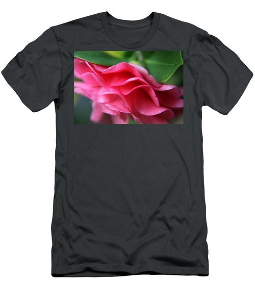 Dancing Petals Of The Camellia Men's T-Shirt (Athletic Fit)