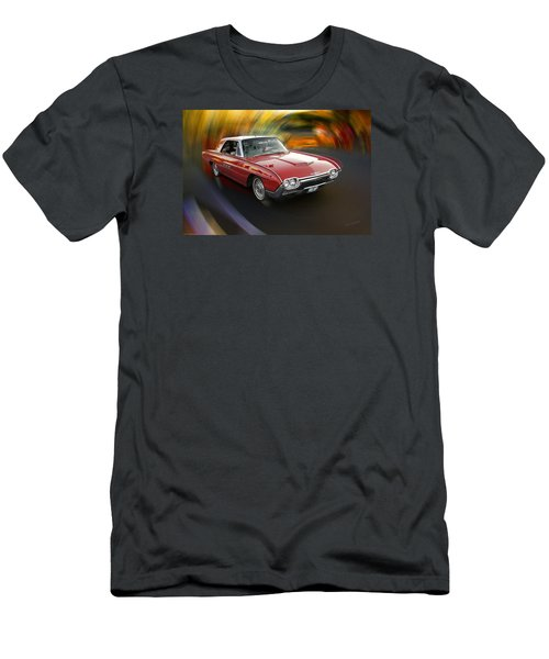 Early 60s Red Thunderbird Men's T-Shirt (Slim Fit) by Mick Anderson