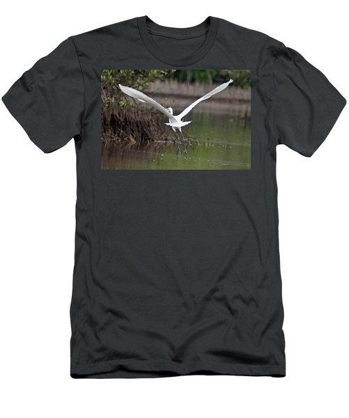 Egret In Flight Men's T-Shirt (Athletic Fit)