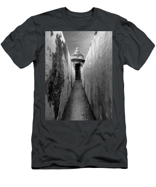 El Morro In Black And White Men's T-Shirt (Athletic Fit)