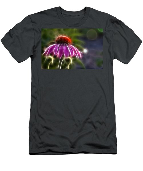 Men's T-Shirt (Slim Fit) featuring the photograph Electrified Coneflower by Lynne Jenkins