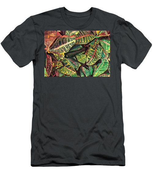 Elena's Crotons Men's T-Shirt (Slim Fit) by Marionette Taboniar