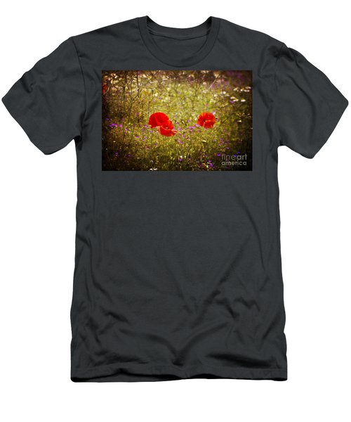 English Summer Meadow. Men's T-Shirt (Athletic Fit)
