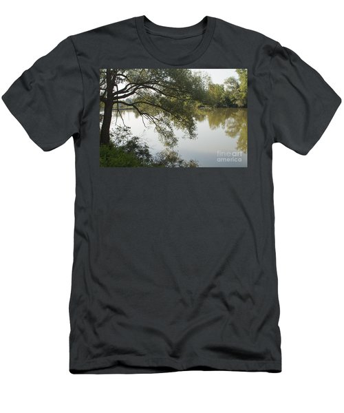 Men's T-Shirt (Slim Fit) featuring the photograph Erie Canal Turning Basin by William Norton