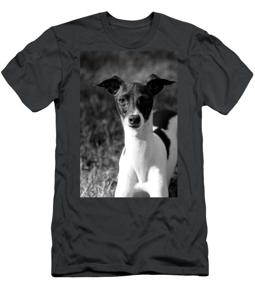 Ethan In Black And White Men's T-Shirt (Athletic Fit)