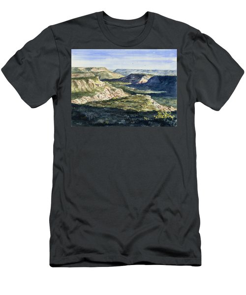 Evening Flight Over Palo Duro Canyon Men's T-Shirt (Athletic Fit)