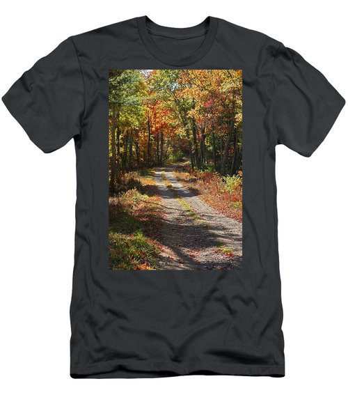 Fall On The Wyrick Trail Men's T-Shirt (Slim Fit)