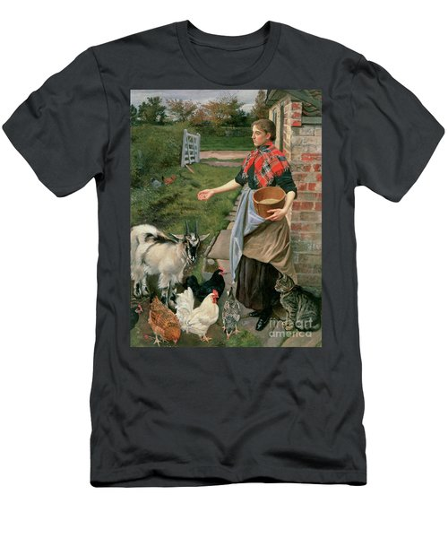 Feeding The Chickens Men's T-Shirt (Athletic Fit)