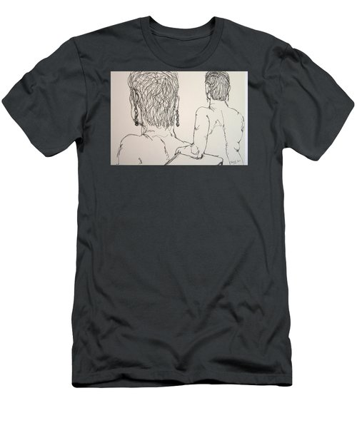 Female Nude Beside Herself Men's T-Shirt (Athletic Fit)