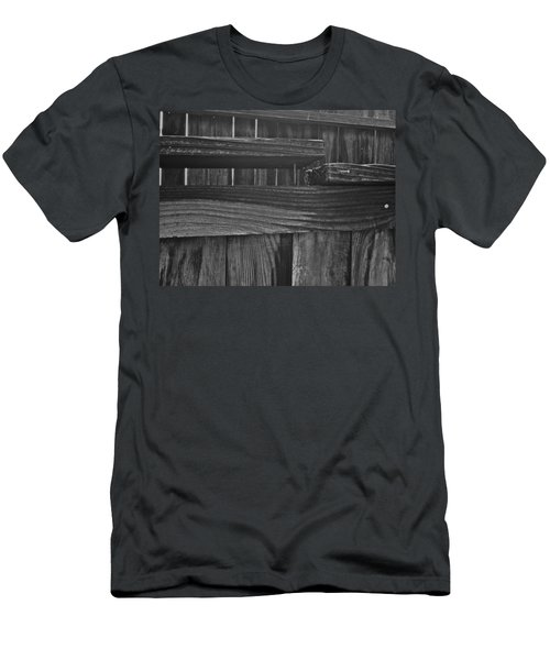 Fence To Nowhere Men's T-Shirt (Slim Fit) by Bill Owen