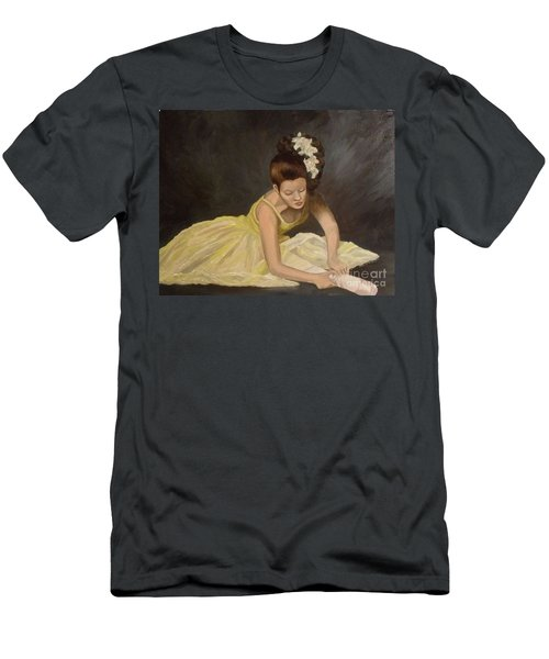 Men's T-Shirt (Slim Fit) featuring the painting Final Preparations by Julie Brugh Riffey