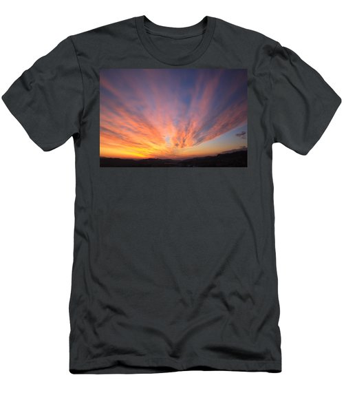 Fire In The Sky Men's T-Shirt (Athletic Fit)