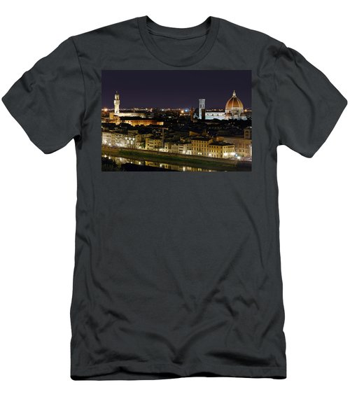 Firenze Skyline Men's T-Shirt (Athletic Fit)