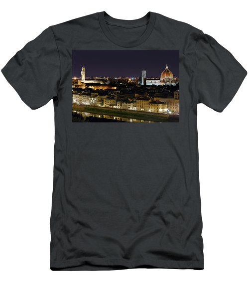Firenze Skyline At Night - Duomo And Surroundings Men's T-Shirt (Athletic Fit)