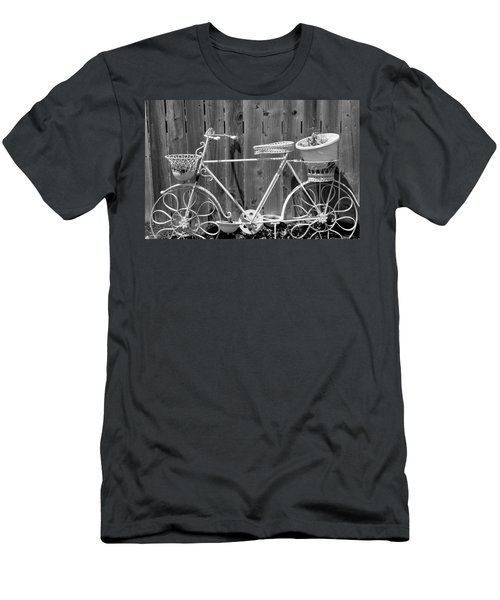 Men's T-Shirt (Slim Fit) featuring the photograph Flower Bike by Lisa Brandel