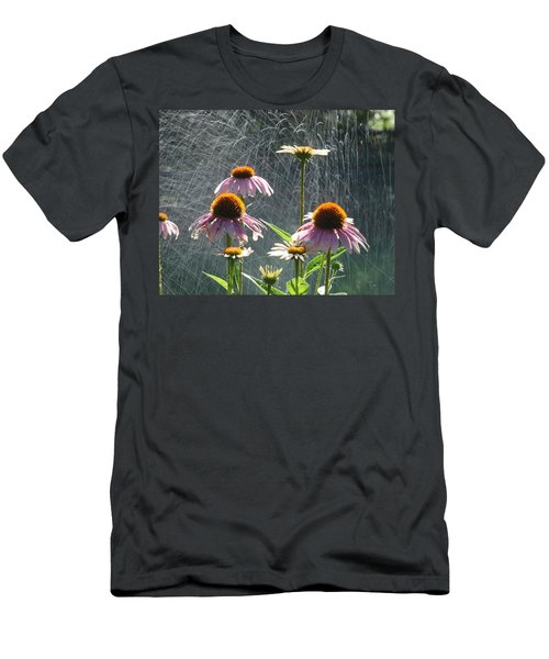 Flowers In The Rain Men's T-Shirt (Athletic Fit)