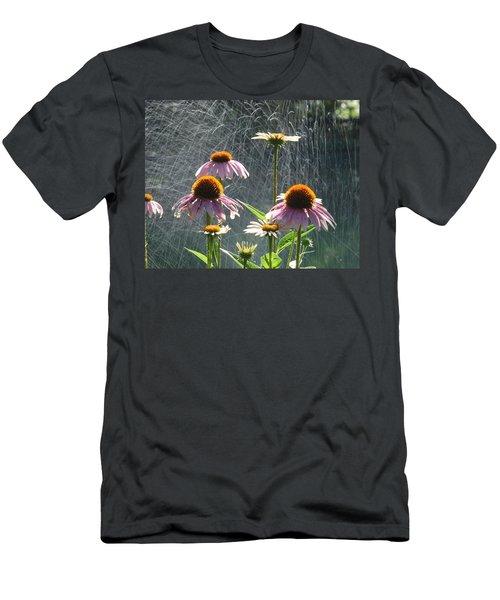 Flowers In The Rain Men's T-Shirt (Slim Fit) by Randy J Heath