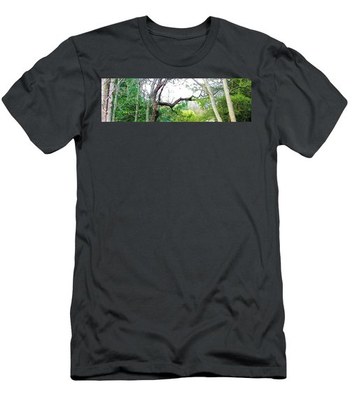 Men's T-Shirt (Slim Fit) featuring the photograph Flying Branch by Pamela Hyde Wilson
