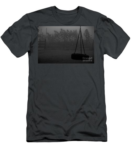 Men's T-Shirt (Slim Fit) featuring the photograph Foggy Playground by Cheryl Baxter