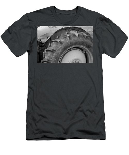 Men's T-Shirt (Slim Fit) featuring the photograph Ford Tractor In Black And White by Jennifer Ancker
